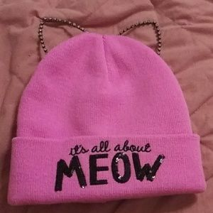 Pink Cat Ears Hat!!!